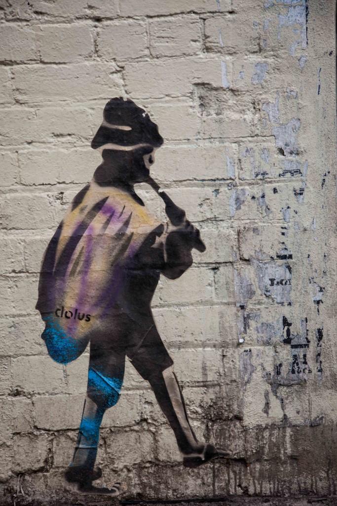 Stencil art by Dolus, Perth
