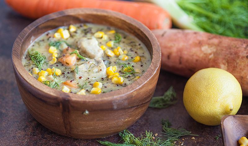 Aussie Inspired Barramundi chowder with dill