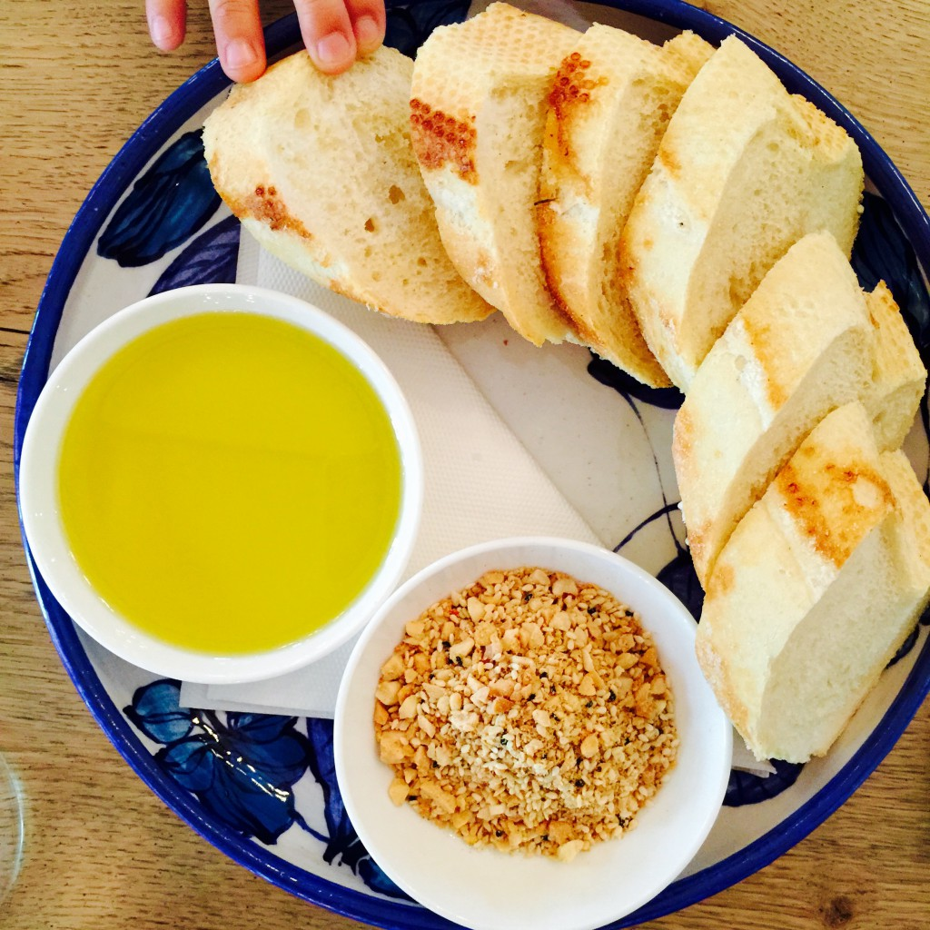 bread with dukkah at Voyager Estate