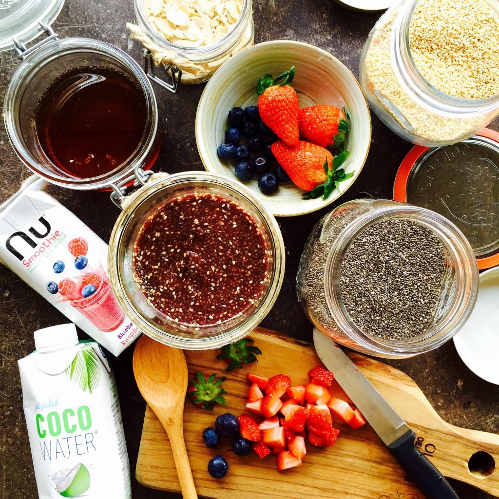 chia seed pudding, raw, vegan