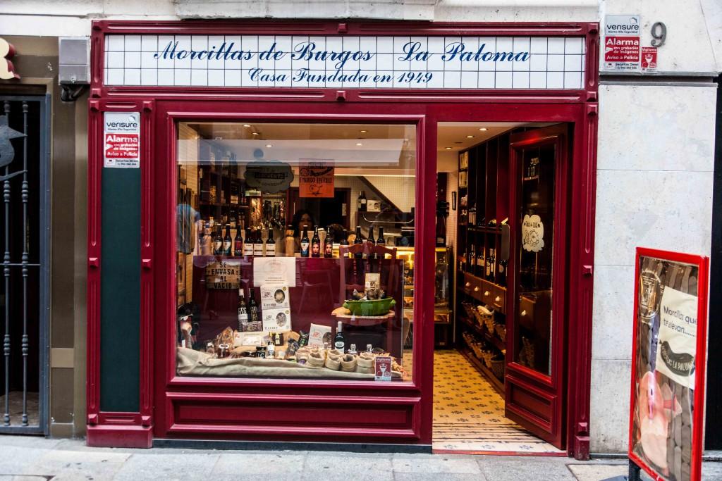 A grocer store selling morcillas de Burgos