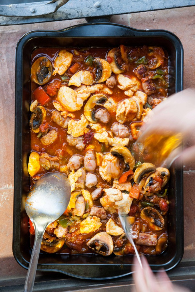 A non traditional method of cooking paella