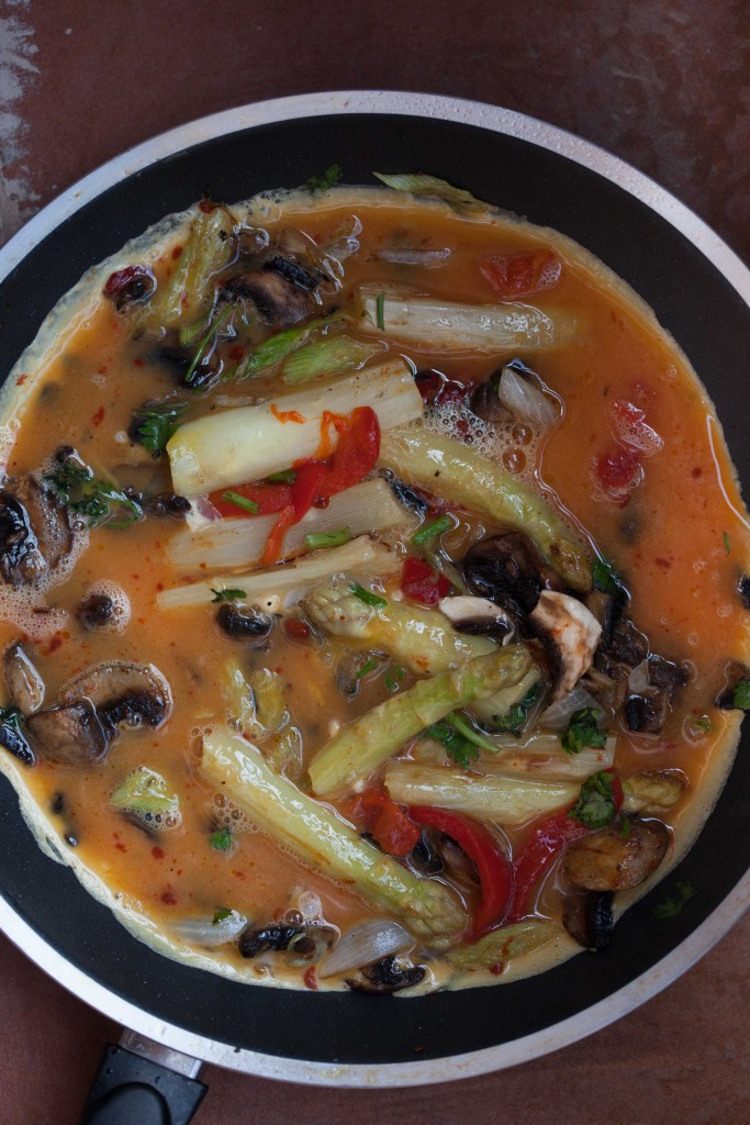 The Soup Spoon | Revuelto with asparagus