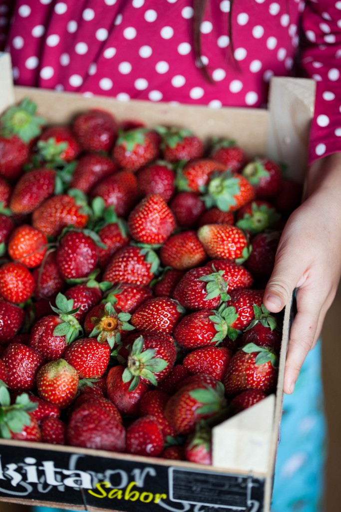 Strawberries for jam