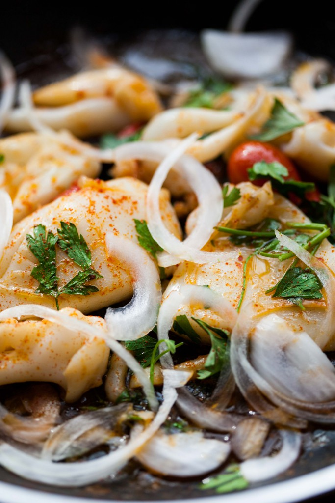 Sauteed squid