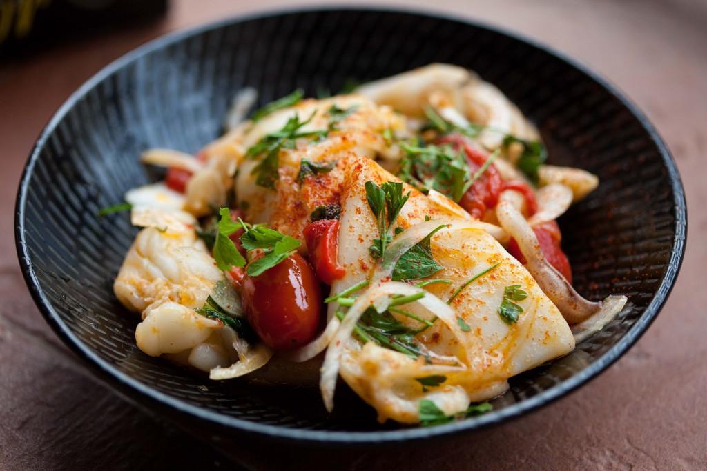 Spanish style marinated cuttlefish