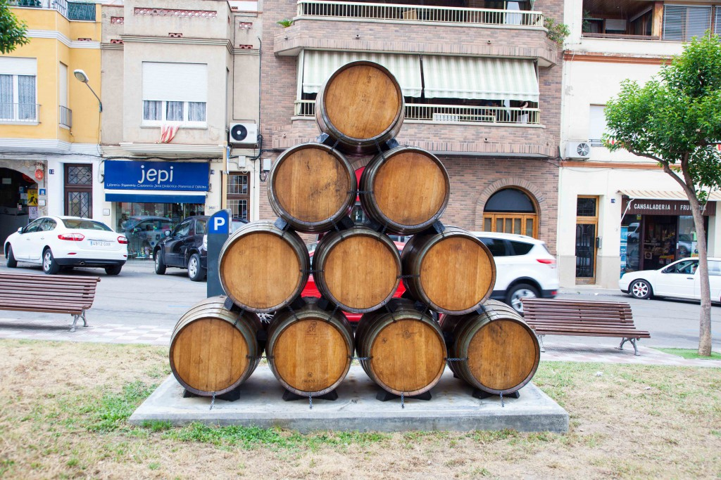 Oak barrels in Sant Sadurni