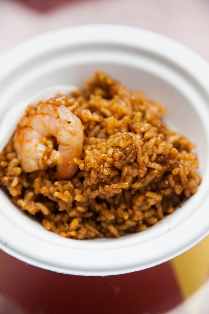 berican pork with rice and prawns