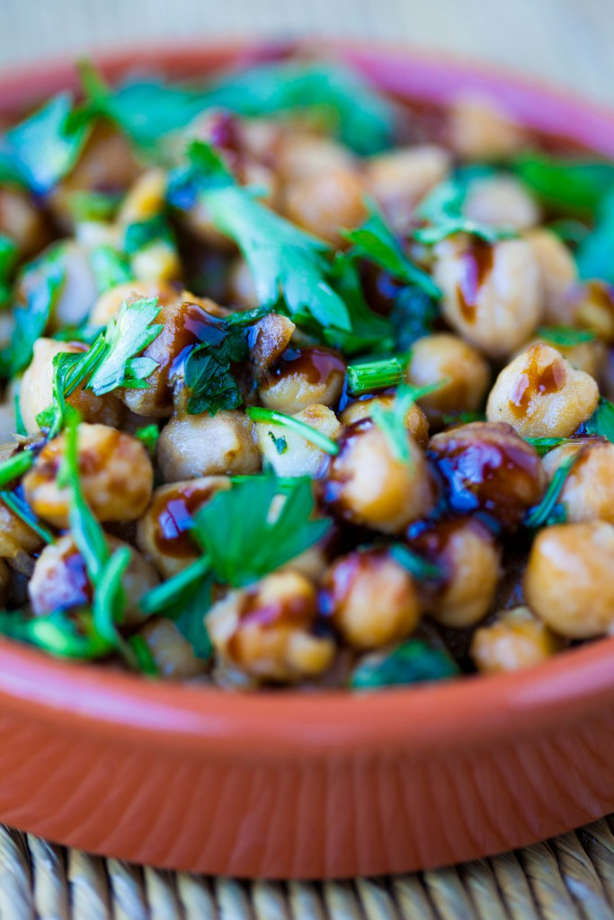 Spanish Balsamic Chickpeas