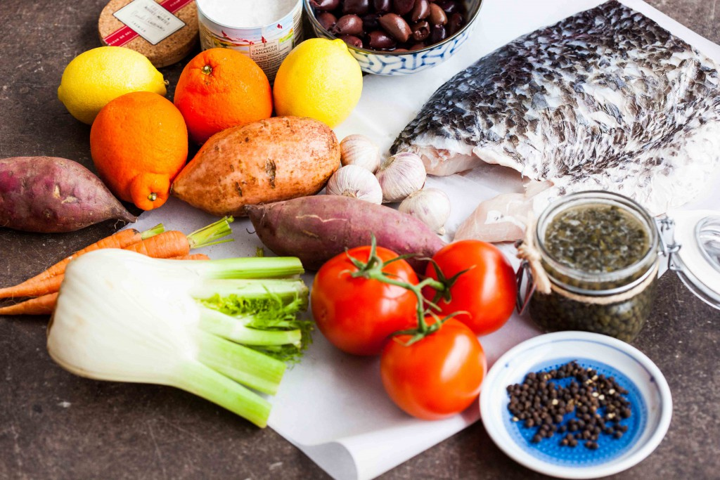 Ingredients required for Tuscan Barramundi