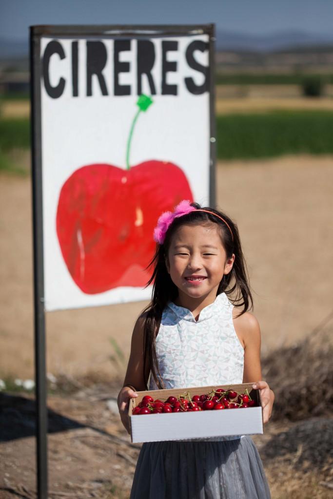 Souper happy Isabella with her cherries