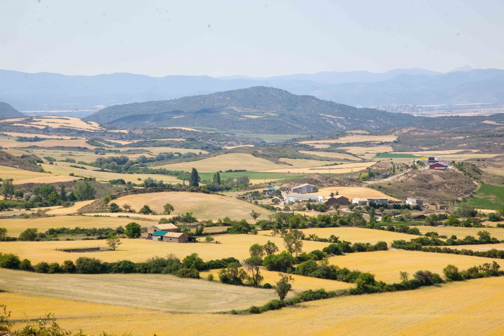 Rolling hills of Aragon country