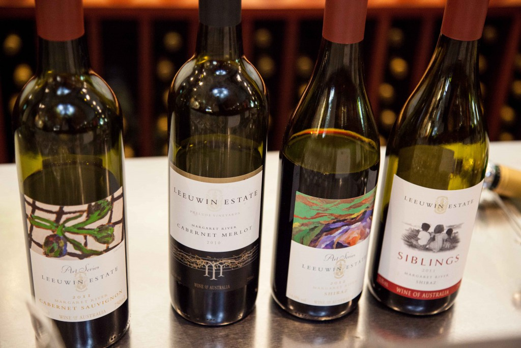 Leeuwin Estate wine saampling