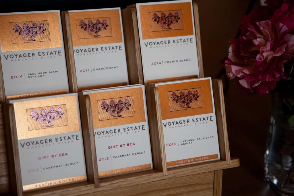 Tasting notes at Voyager Estate