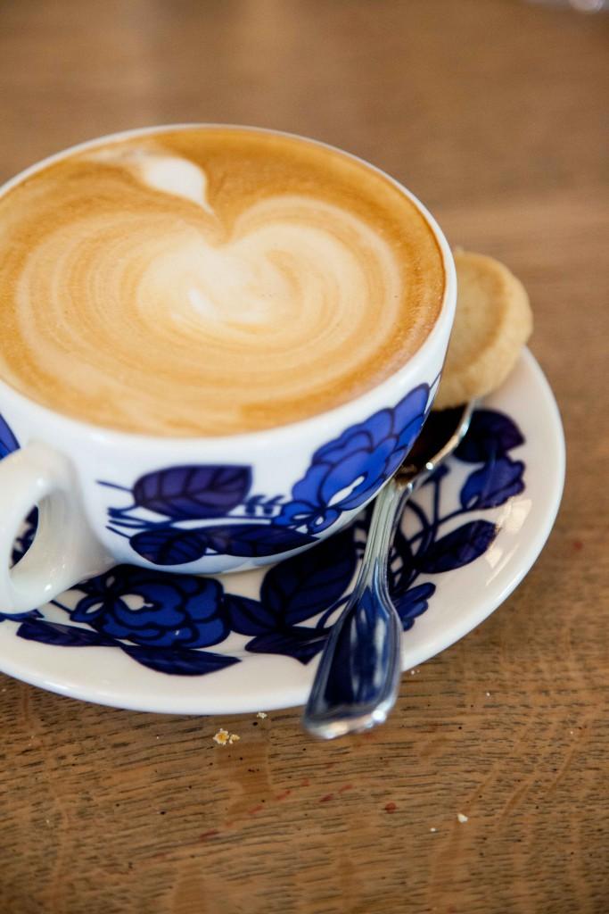 Latte in beautiful cup
