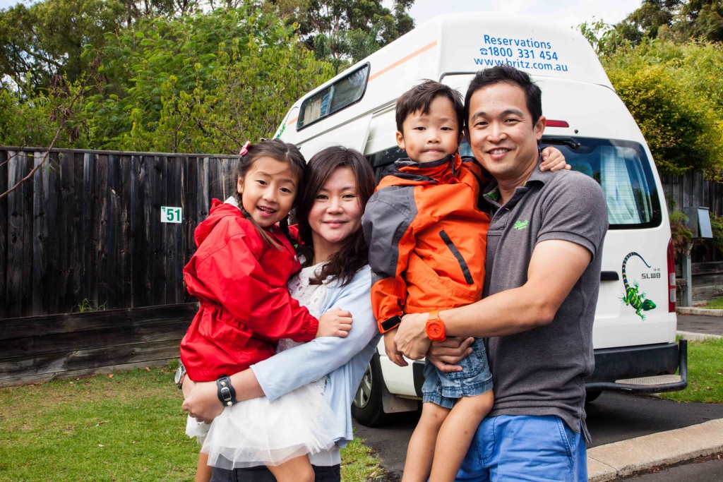 Family pic at Riverview Tourist Park, Margaret River