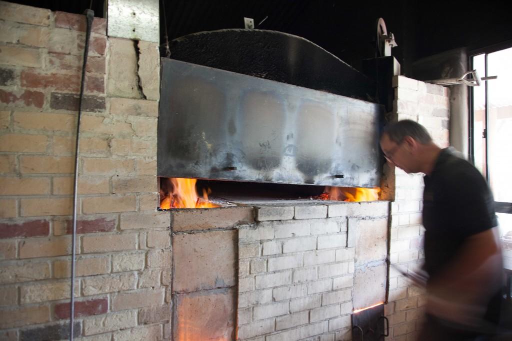 Woodfire oven, Yallingup Woodfired Bakery