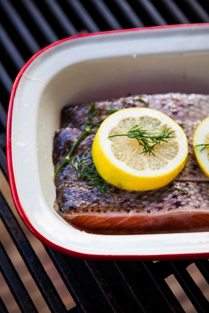 Salmon fillets, aussie, barbeque