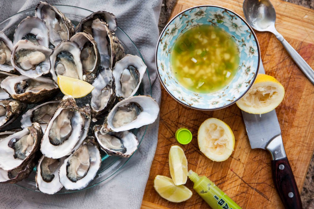 Perth, coffin bay oysters, dressing