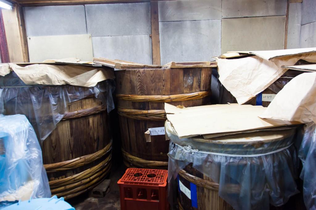 Gujo miso wood vats