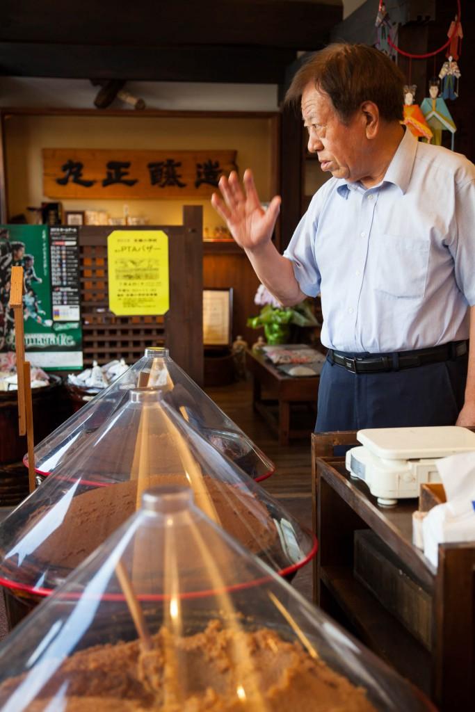 Shinhu miso master brewer Hayashi san