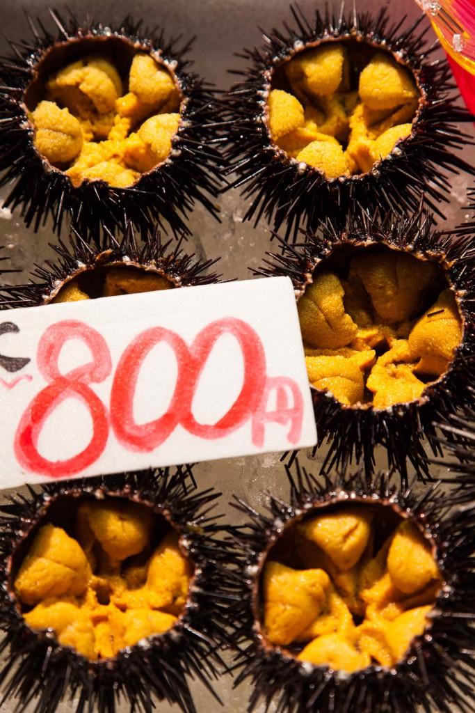 Sea urchin at Shiogama Seafood Market