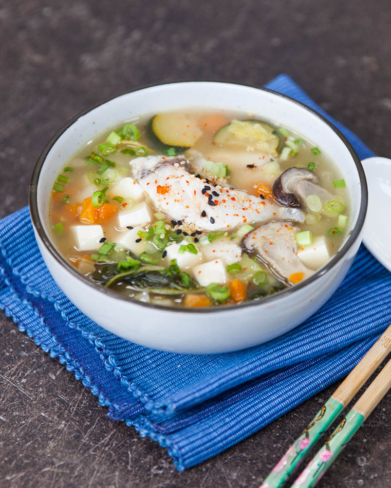 Barramundi miso stew