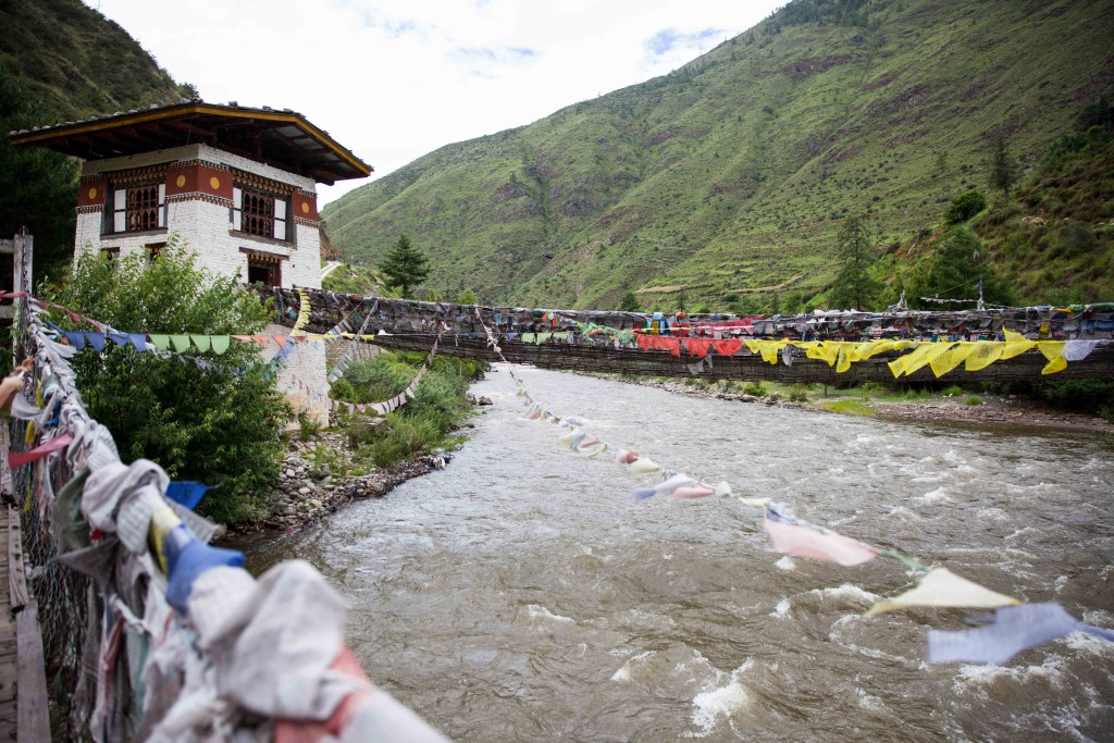 The swift rivers that generate power and income for Bhutan.