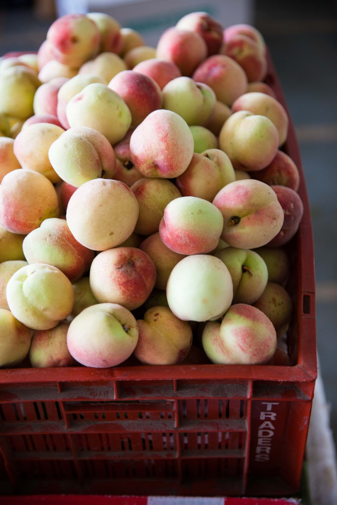 Perfect pretty peaches that we had as snacks in our long bumpy car rides across mountains.