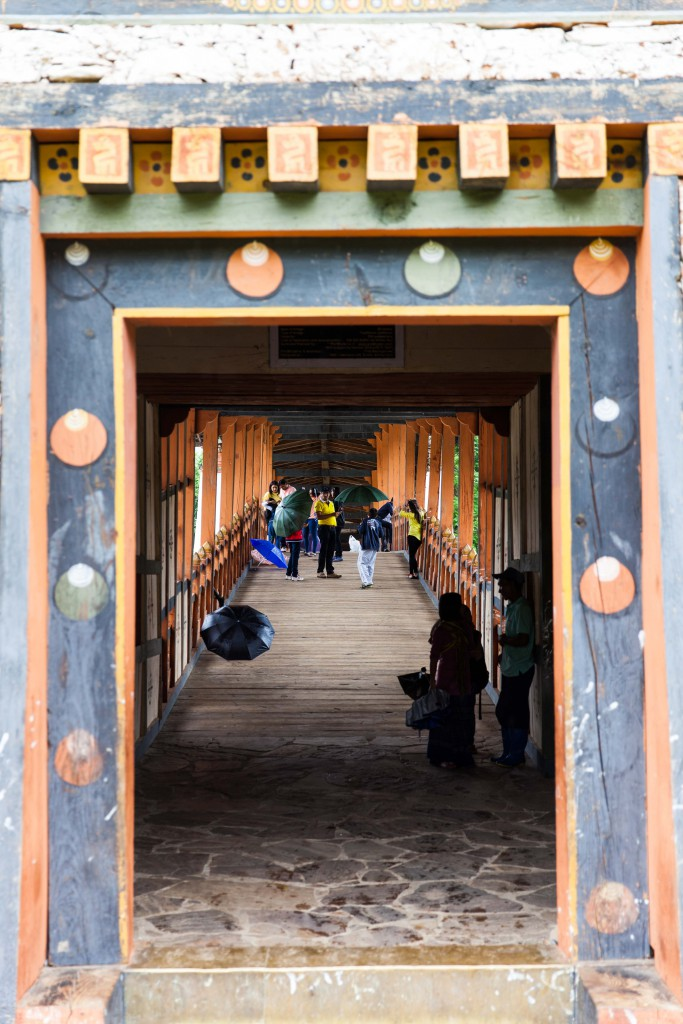 The door leading into the Punakha Dzong.