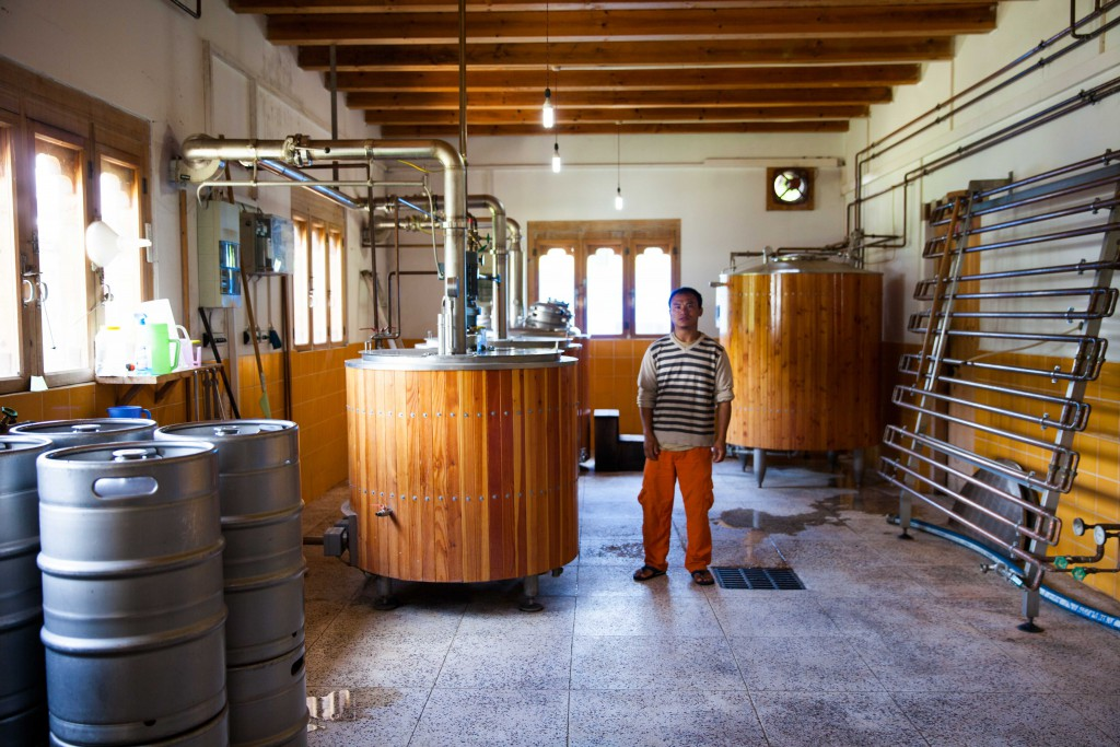 The facilities in the Red Panda Beer Brewery. Humble as they are, they produce smooth, unfiltered beer that's free of preservatives.
