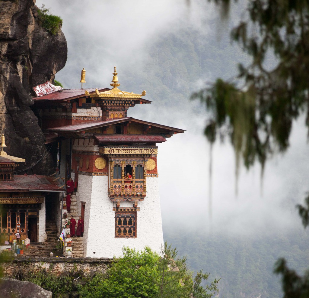 Surreally regal - our view of Tiger's Nest from the vantage point.