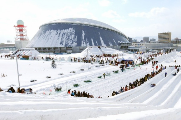 Sapporo Snow Festival, the biggest winter festival in Japan.