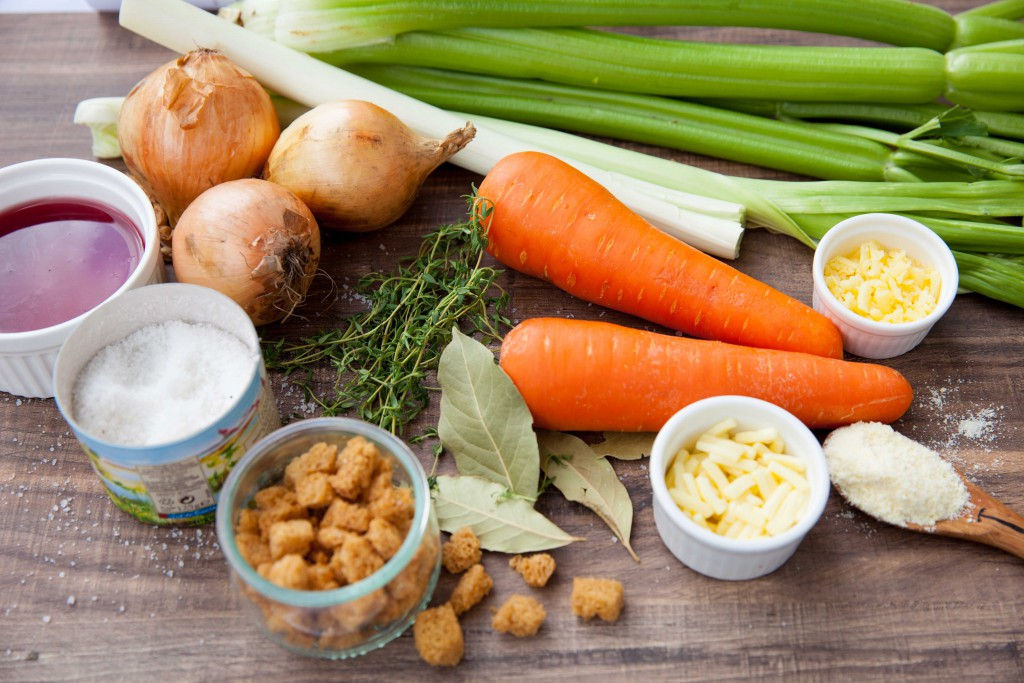 Ingredients used for French Onion Soup