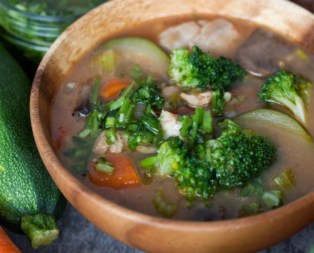 Chicken Broccoli with Red rice stew