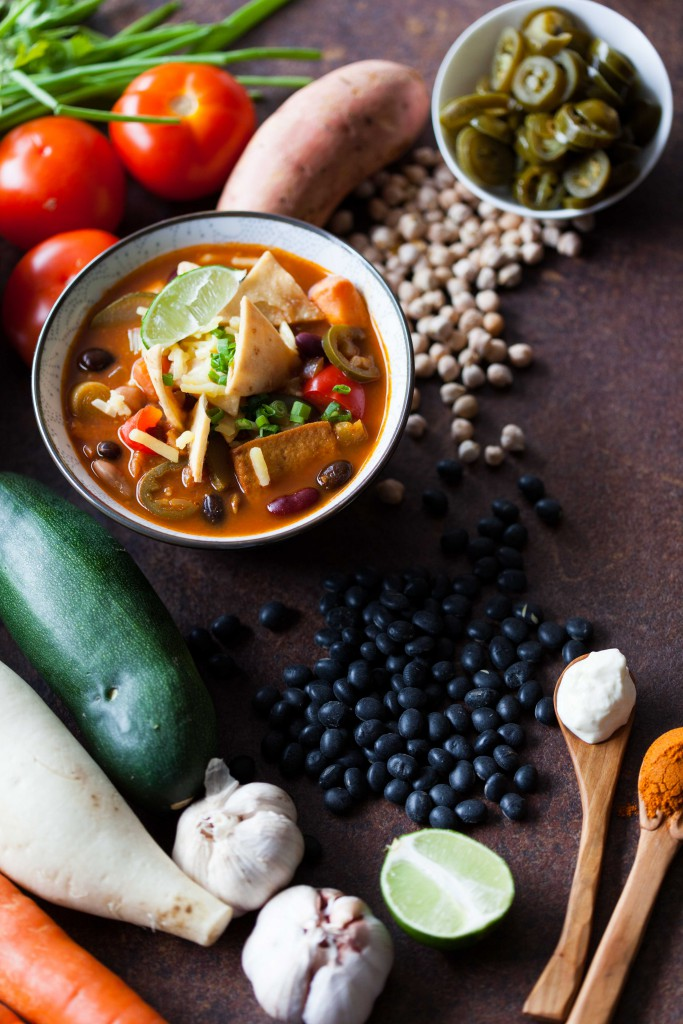 Ingredients used for Soulful Vegan Chilli