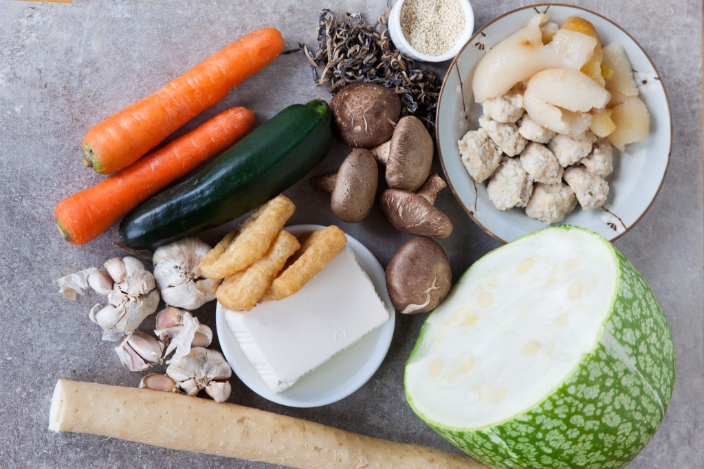Ingredients used for Collagen beauty stew