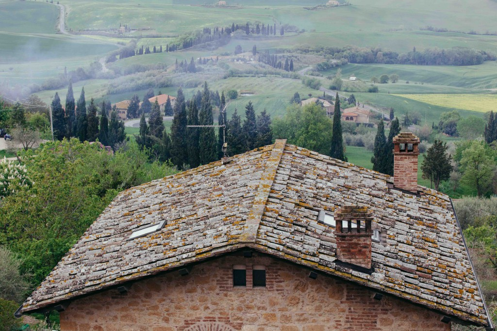 The rolling hills in Tuscany