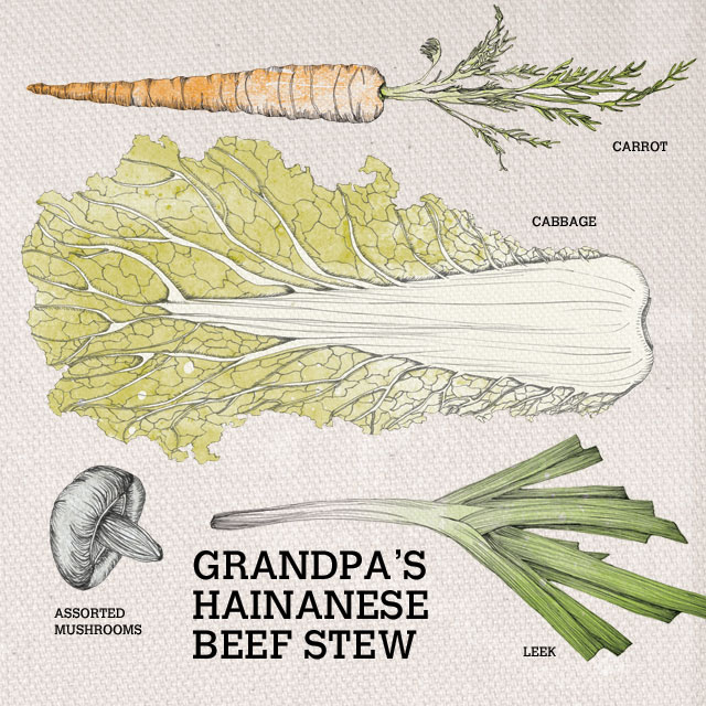 Ingredients used in Grandpa's Hainanese Beef Stew