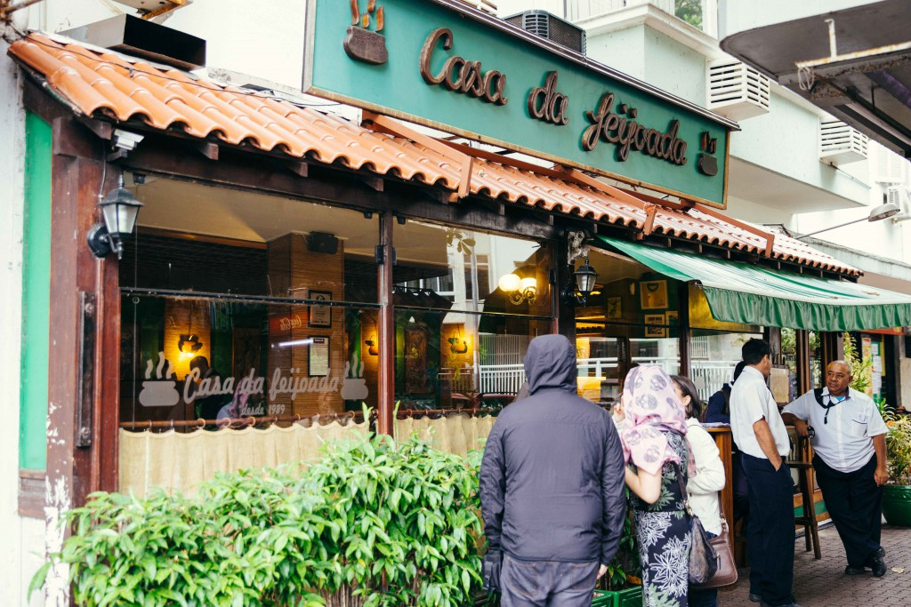 Casa de Feijoada, translated to House of Feijoada is very popular with locals and before 12 noon, there was already a queue forming. They are said to serve the best feijoada in Rio!