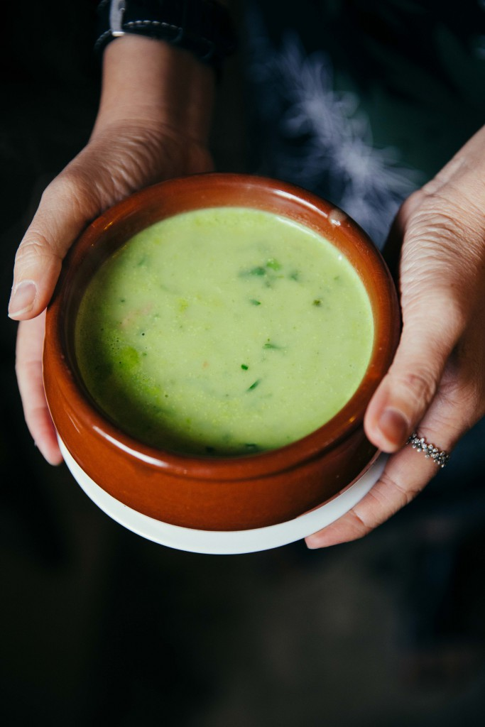 Caldo verde which literally means green broth
