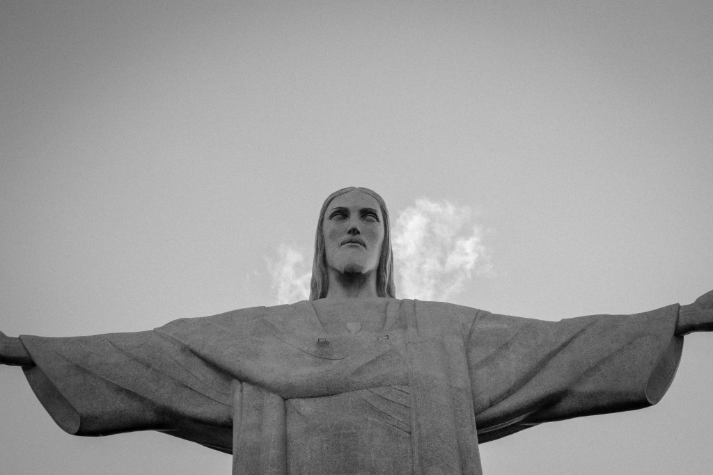 The iconic Christ the Redeemer towering over Rio, protecting the city and embracing all mankind with open arms.