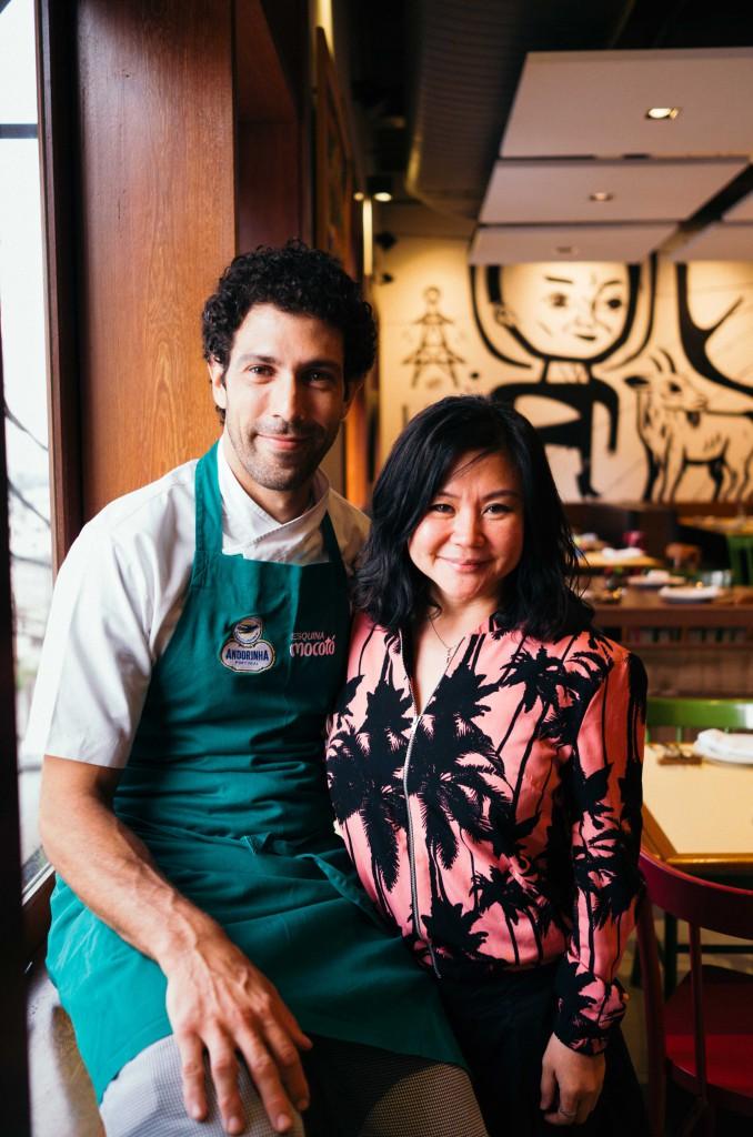 Celebrated Brazilian chef, Rodrigo Oliveira and our SouperChef Anna.