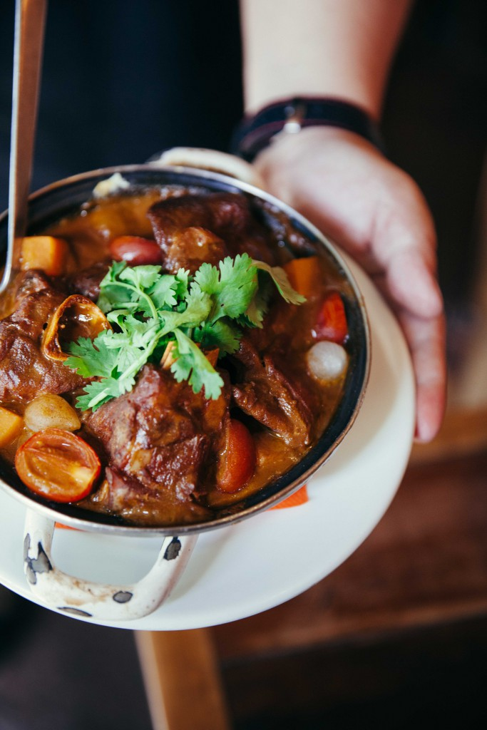 A one pot food. Atolado de bode, a lamb stew from the North east where his father is from. This was so good.