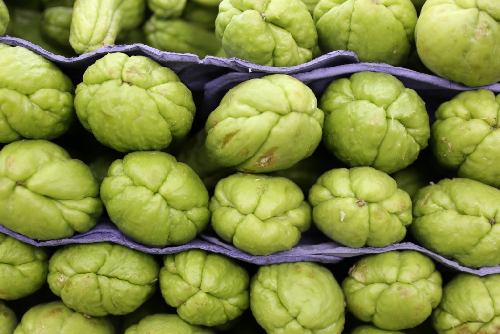 Love love the markets in Brazil. They provided a lot of inspiration for me . Seen here, are chayote used for this vegan soup.