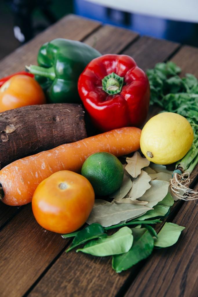 Ingredients used in Moqueca Barramundi