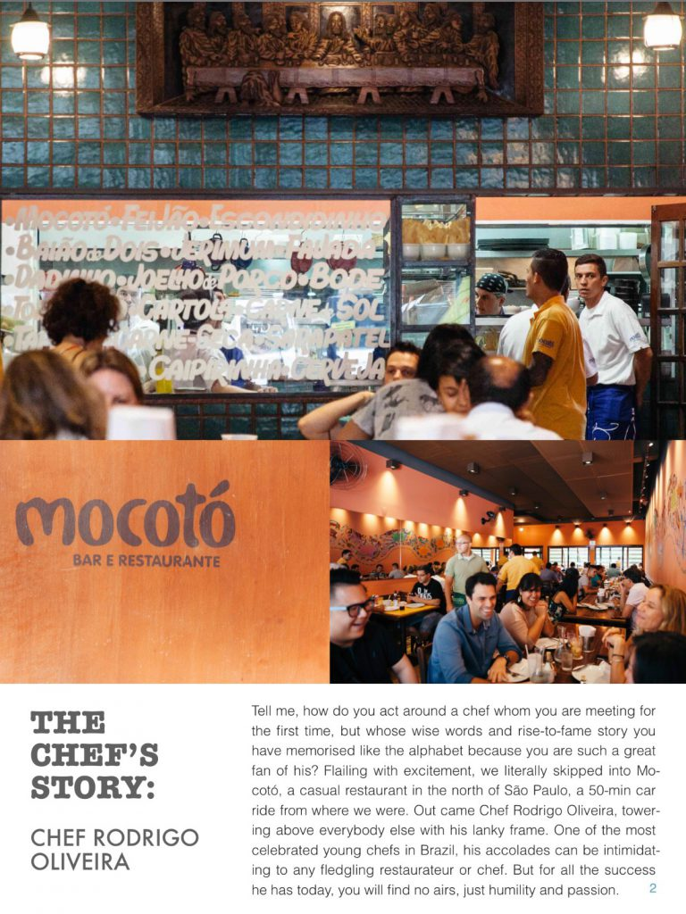 An excerpt from our E magazine on Chef Rodrigo Olivera and his stories