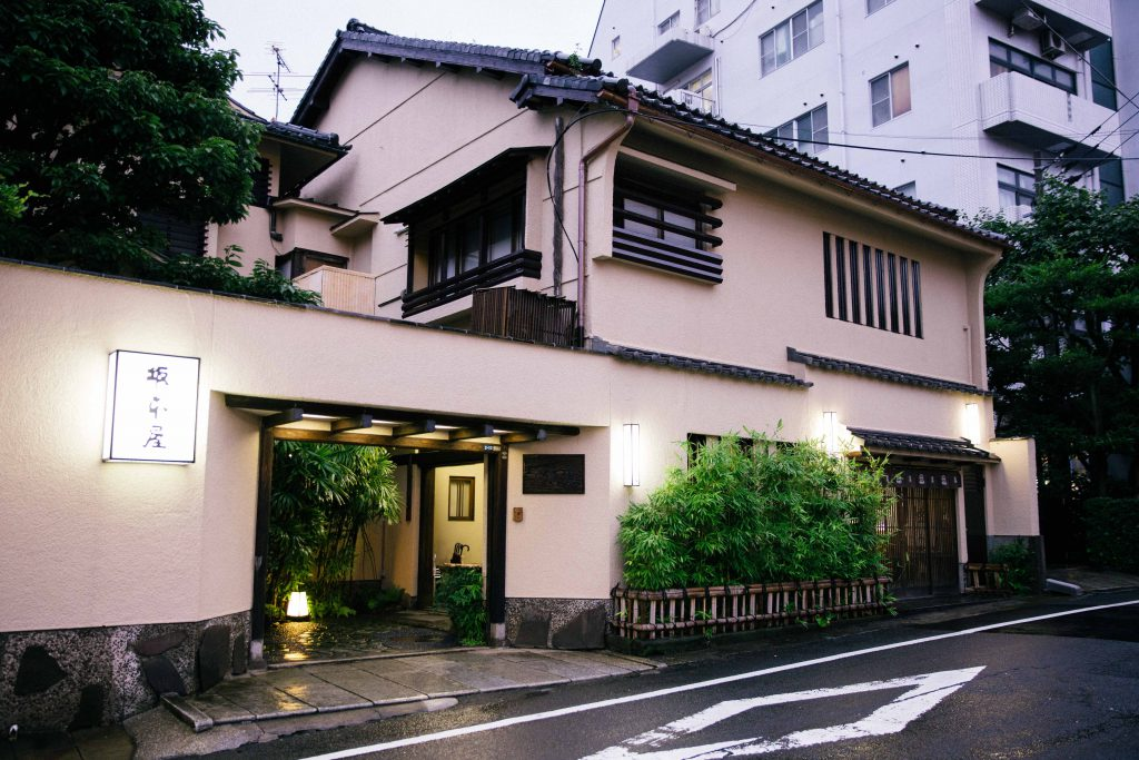 Sakamotoya is a 120 year old establishment, run by 4th generation husband and wife team. Besides being a restaurant, it is also a ryokan. It serves tradtional shippoku ryori.