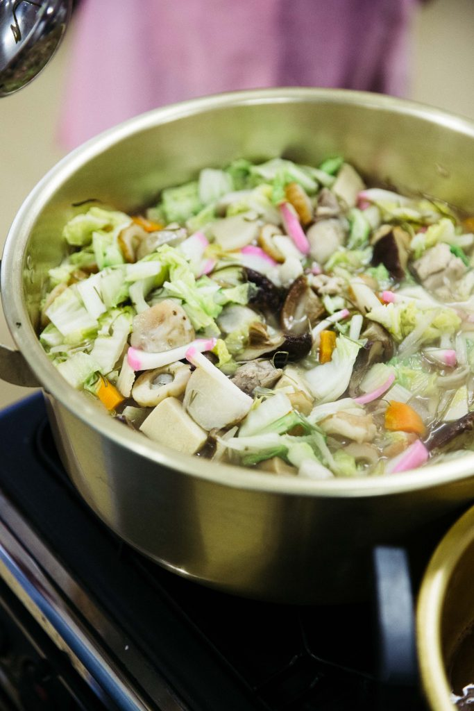 The Shimabara guizoni I learned to make in Kyushu, a chicken and vegetable soup with rice cakes.
