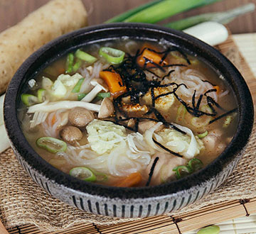 "The Soup Spoon | Edamame ""Tofu"" Chicken Miso"